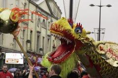 Parade van de het Nieuwjaarstraat van Liverpool de Chinese Royalty-vrije Stock Afbeelding