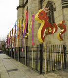 Parade van de het Nieuwjaarstraat van Liverpool de Chinese Stock Fotografie