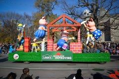 Parade van de Kerstman van Toronto de 108ste Stock Foto's