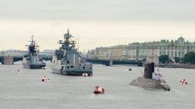 Parade van de Marine in St. Petersburg Royalty-vrije Stock Afbeelding