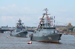 Parade van de Marine in St. Petersburg Stock Foto