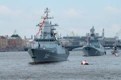 Parade van de Marine in St. Petersburg Stock Afbeelding