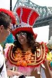 Parade van de Trots van Montreal dertigste de Jaarlijkse Vrolijke Royalty-vrije Stock Afbeeldingen