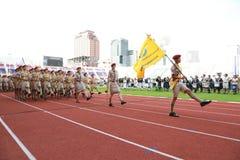 Parade van de verkenners de jaarlijkse Nationale Dag Royalty-vrije Stock Fotografie