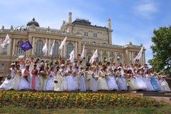 Parade van fiancees Royalty-vrije Stock Afbeeldingen