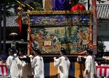 Parade van Gion-festival, Kyoto Japan in Juli Stock Foto's