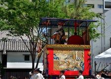 Parade van Gion-festival, Kyoto Japan in Juli Stock Fotografie