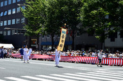 Parade van Gion-festival, Kyoto Japan in Juli Royalty-vrije Stock Foto