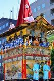 Parade van Gion-festival, Kyoto Japan in Juli Stock Afbeeldingen