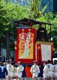 Parade van Gion-festival, Kyoto Japan in Juli Royalty-vrije Stock Foto's