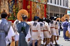 Parade van Gion-festival, Kyoto Japan in Juli Royalty-vrije Stock Afbeelding