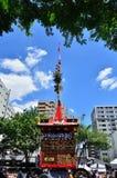 Parade van Gion-festival, Kyoto Japan in Juli Stock Foto