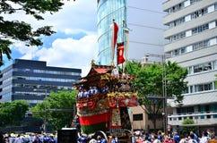 Parade van Gion-festival, Kyoto Japan in Juli Royalty-vrije Stock Fotografie