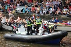 Parade van het de trotskanaal van Amsterdam de vrolijke Stock Afbeelding