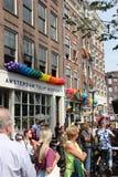 Parade van het de trotskanaal van Amsterdam de vrolijke Royalty-vrije Stock Foto
