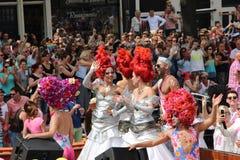 Parade van het de trotskanaal van Amsterdam de vrolijke Stock Fotografie