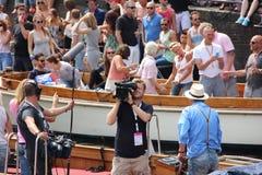 Parade van het de trotskanaal van Amsterdam de vrolijke Royalty-vrije Stock Fotografie