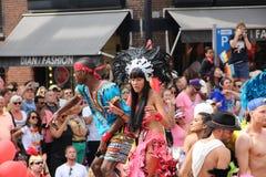 Parade van het de trotskanaal van Amsterdam de vrolijke Stock Afbeeldingen