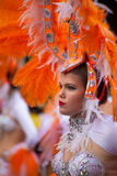 Parade van Las Palmas de hoofdcarnaval Stock Afbeeldingen