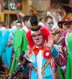 Parade van Las Palmas de hoofdcarnaval Stock Afbeelding