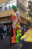 Parade van Las Palmas de hoofdcarnaval Royalty-vrije Stock Fotografie