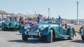 Parade van mooie oude Engelse auto's Royalty-vrije Stock Afbeelding
