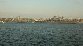 Parade van oorlogsschepen Rusland stock videobeelden