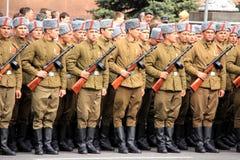 Parade van overwinning Royalty-vrije Stock Afbeeldingen