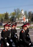 Parade van overwinning. Vladimir, 9 Mei, 2009 royalty-vrije stock afbeelding