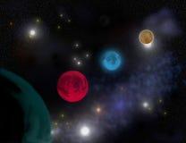Parade van planeten vector illustratie
