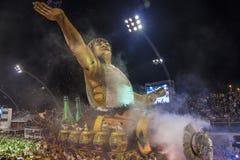 Parade van Samba School 2013 - Sao Paulo Royalty-vrije Stock Afbeeldingen