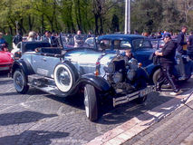 Parade van uitstekende auto's Stock Afbeeldingen