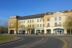 Parade van winkels Cambourne, Cambridgeshire Royalty-vrije Stock Fotografie