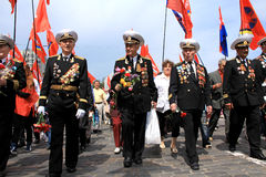 Parade of victory Royalty Free Stock Image