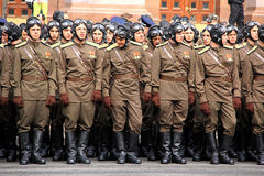 Parade of victory Stock Image