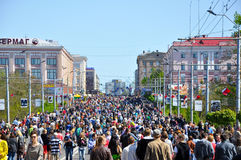 Parade of Victory in Bryansk on May 9,2014. Royalty Free Stock Photography