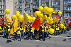 Parade on the Victory Day on May 9, 2016. Representatives of Con Stock Image