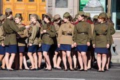 Parade victory at Kiev, Ukraine Royalty Free Stock Photo