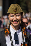 Parade victory at Kiev, Ukraine Stock Image