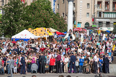 Parade Victory on May 9, 2013 Kiev, Ukraine Royalty Free Stock Images