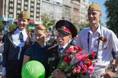 Parade Victory on May 9, 2013 Kiev, Ukraine Royalty Free Stock Photos