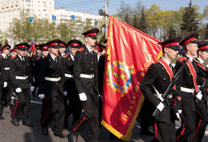 Parade of victory. Vladimir, May 9, 2009 Stock Photography