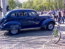 Parade of vintage cars Royalty Free Stock Image