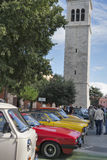 Parade of vintage cars in Novigrad, Croatia Stock Images