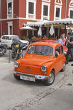 Parade of vintage cars in Novigrad, Croatia Royalty Free Stock Photography