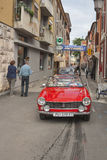 Parade of vintage cars in Novigrad, Croatia Royalty Free Stock Images