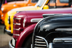 Parade of vintage luxury cars Royalty Free Stock Images