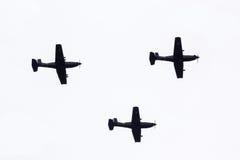 Parade von Flugzeugen Stockfoto