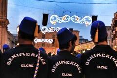 Parade von Moors und Christen für die Festlichkeiten von Elche, Alicante stockbilder
