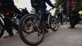 Parade von Radfahrern, Fahrradreiter stock footage
